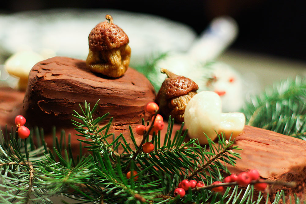 Chocolate and Chestnut Buche de Noel
