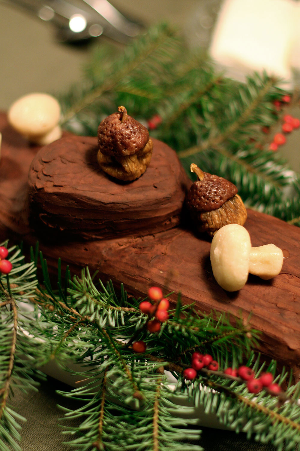 Chocolate Chestnut Buche de Noel