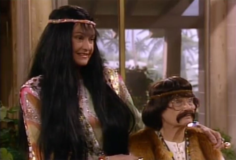 Sophia and Dorothy as Cher and Bono