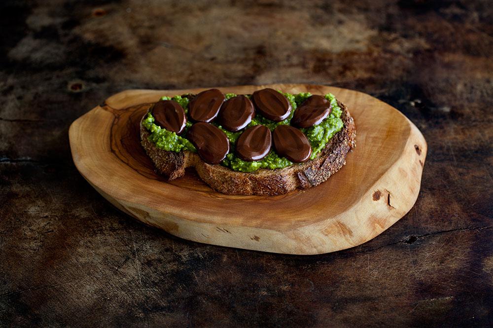 Pistachio Butter, Chocolate & Fleur de Sel Tartine