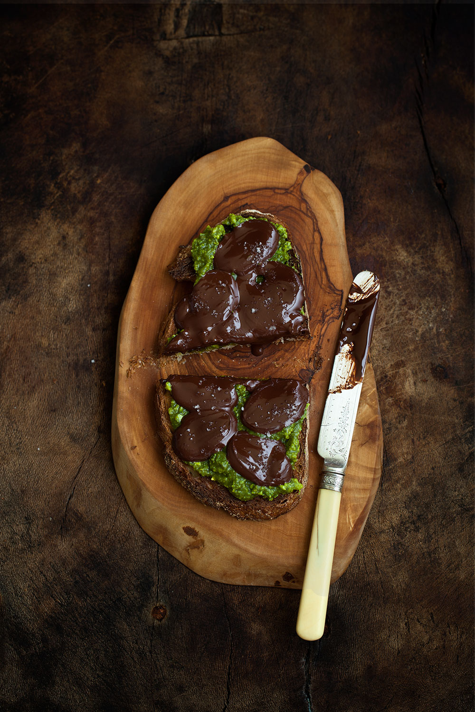 Pistachio Cream, Bittersweet Chocolate & Fleur de Sel Tartine 3