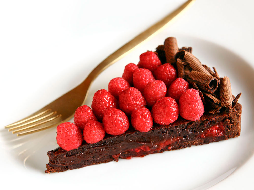 Frambuaz ve Çikolatalı Tart