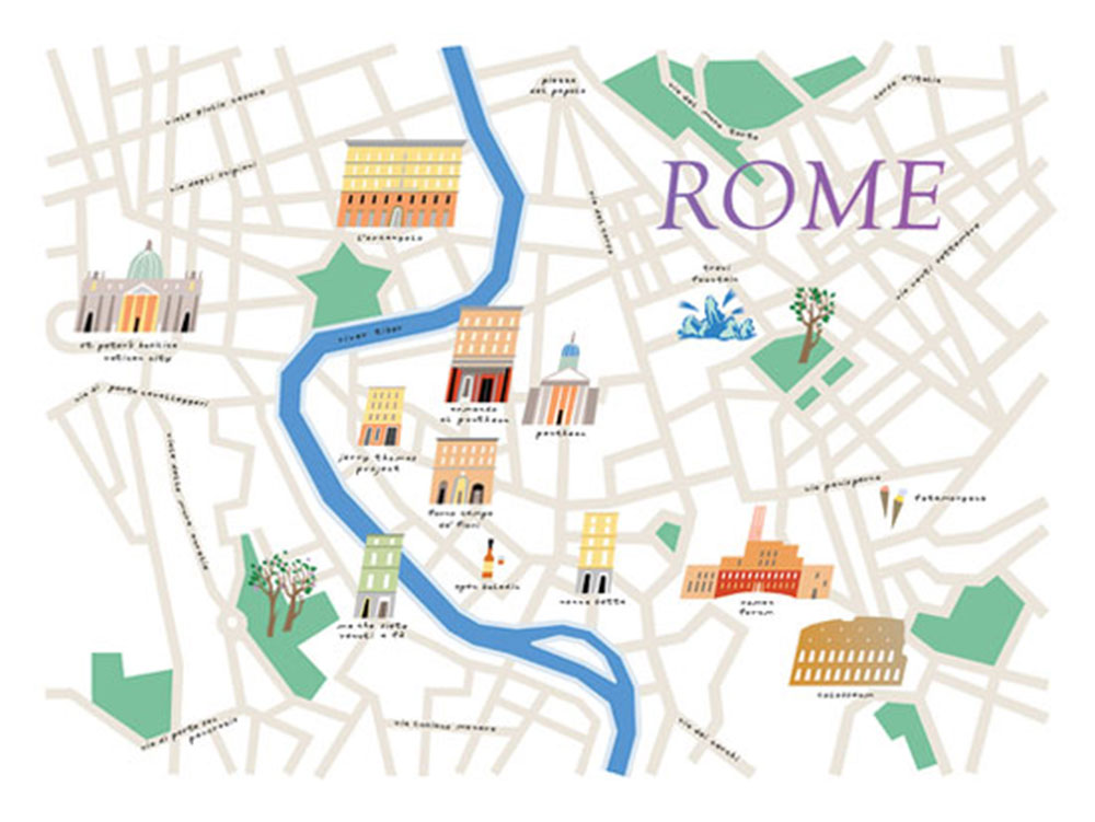 Tasting Rome – Illustrated map