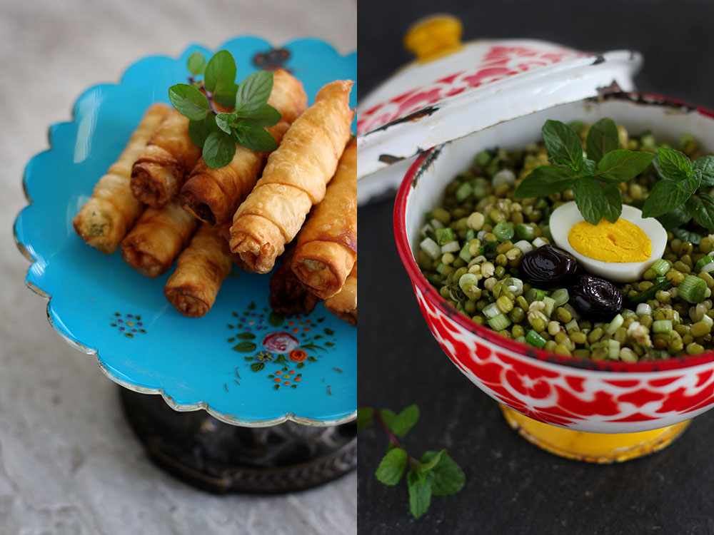Mung Bean Salad and Borek