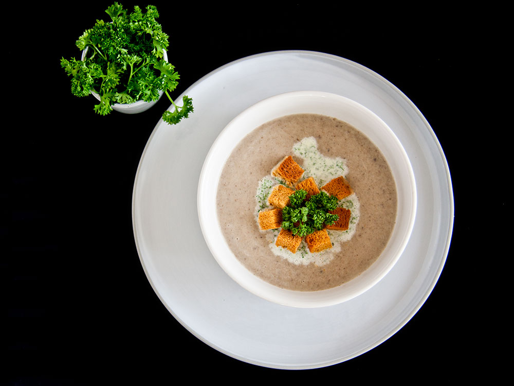 Mushroom Soup with Chervil Cream