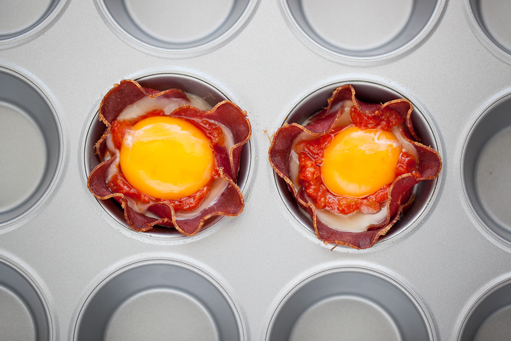 Egg in a cup muffin tin