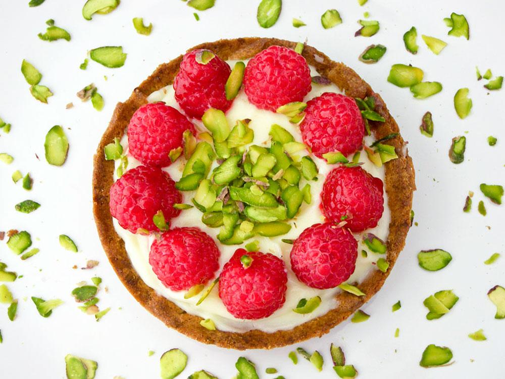 Raspberry Pistachio Tart