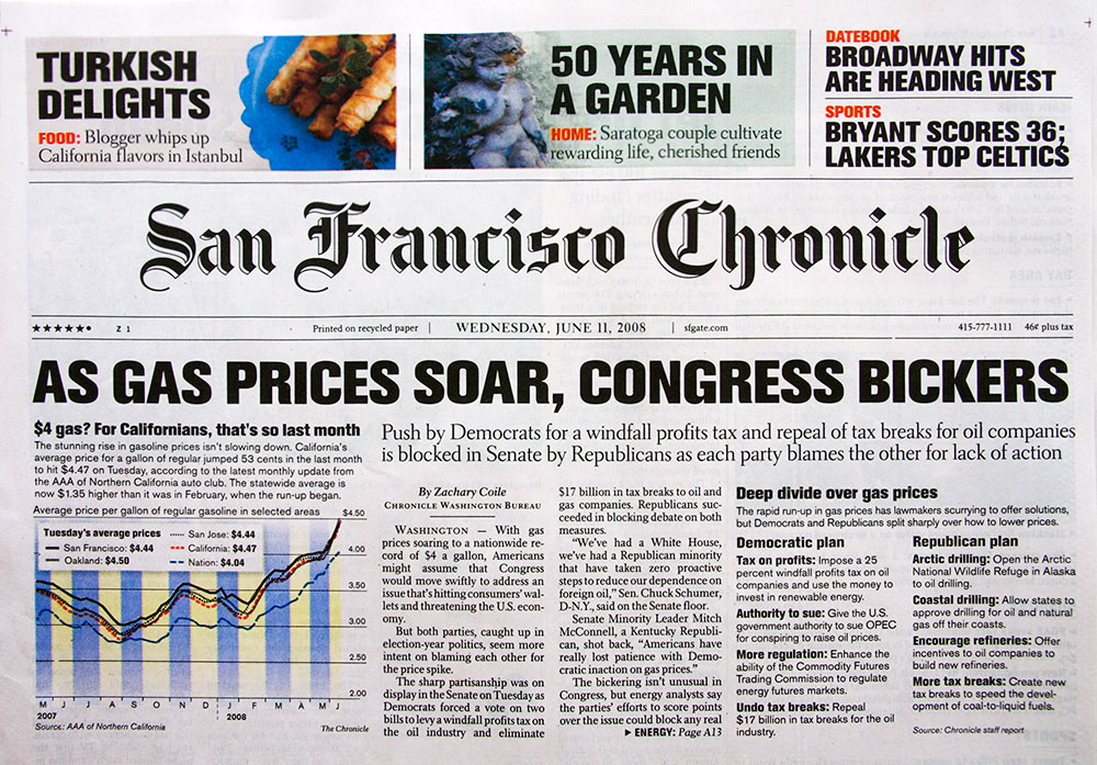 San Francisco Chronicle Cover 1