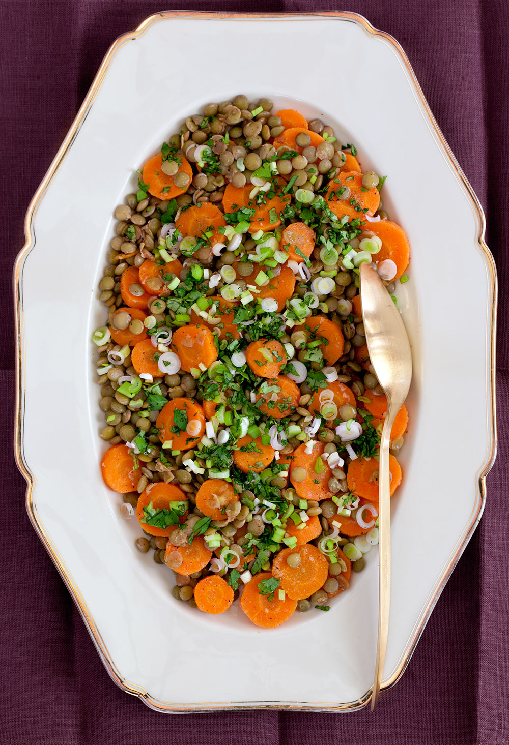 Spicy Carrot and Green Lentil Salad 2