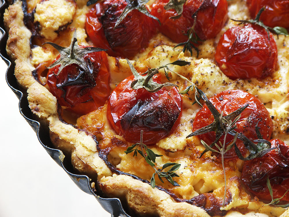 Cherry Tomato Feta Cheese Tart