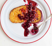 French Toast with Sour Cherries