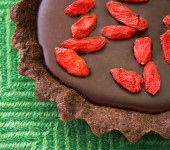 Chocolate Ganache Tart with Goji Berries