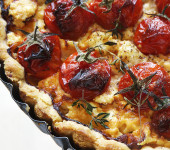 Cherry Tomato and Feta Cheese Tart with Fresh Thyme