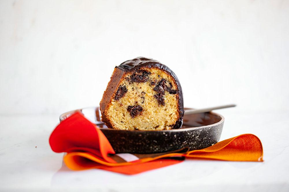 cikolatali portakalli kek